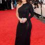 Davina McCall tévés műsorvezetőnek is jól áll a fekete, de sajnos eléggé áttetszik a ruha anyaga.