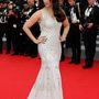 Aishwarya Rai 21-én  Roberto Cavalli ruhát és Chopard ékszereket viselt a The Search premierjén.