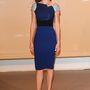 Az Agora vacsorára a színésznő Roland Mouret 2014-es őszi-téli kollekciójából választott ruhát.