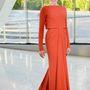Greta Gerwig Zac Posen-ruhája tökéletes választás volt.