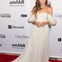 Parker egy 2014-es tavaszi kollekciós Schiaparelli ruhát viselt a New York-i amfAR Inspiration gálán június 10-én.