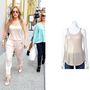 Jennifer Lopez saját márkájából választott egy felsőt, ami egyébként 14 dollárba (3000 forintba) kerül