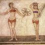 Mozaik egy ókori olasz villából a negyedik század környékéről.