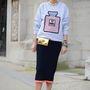 Elisa Nalin stylist sem hibázott a táska--cipő párossal.