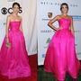 Sutton Foster és Jessica Alba élénk rózsaszínben.