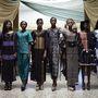 Az ECOWAS bemutatója előtt próbálnak a modellek.