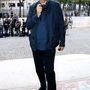 Mario Testino fotós is vendégként vett részt a Versace haute couture bemutatóján.