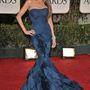 2012-ben a Golden Globe-on is sellőfazonú estélyiben parádézott.
