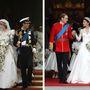 Esküvő 1981-ben és 2011-ben. Meglepően sok hasonló gesztusa van Dianának és Katalinnak.
