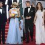 1987. május 15.: Diana kedvenc tervezője, Catherine Walker estélyijében sétál Cannes-ban. Katalin 2011-ben Los Angelesben a BAFTA díjátadóra érkezett csodaszép, hasonlóan szabott estélyiben.