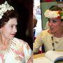II. Erzsébet 1982-ben tett hivatalos körutat Délkelet-Ázsiában, Katalin és Vilmos pedig 2012-ben végigjárta ugyanazt az utat, amit a királynő 30 évvel korábban. Erzsébet tehát 1982-ben Katalin pedig 2012-ben viselt virágkoszorút Tuvalun.
