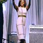 """Michelle Obama, az Egyesült Államok 44. First Ladyje 2011 óta nem kapott helyet a listán, ráadásul akkor is """"párok"""" kategóriában kellett az elnökkel osztoznia a nekik szorított helyen."""
