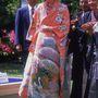 Diana hercegnő 1986-ban Kiotóba látogatott, és természetesen felpróbálta a kimonót, amit ajándékba kapott.