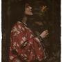 Alvin Langdon Cobur fotója  Elsie Toodles Thomasról 1908-ból. Nagy-Britanniában a 19. század elején nagyon népszerű volt a japán stílus és művészet.