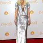Gwen Stefani ezüstös szettje inkább diszkóba való.