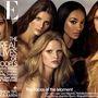 2009. május: Vodianova már két hasonló címlapon is szerepelt, itt éppen Jourdan Dunn, Lara Stone, Isabel Fontana és Natasha Poly társaságában.