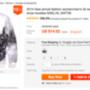 A DVA butik ezt az alig háromezer forintos pulcsit 12500 ezerért árulja.