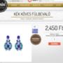 Ez a kék köves fülbevaló 2450 + szállítási költség (1300 forint).