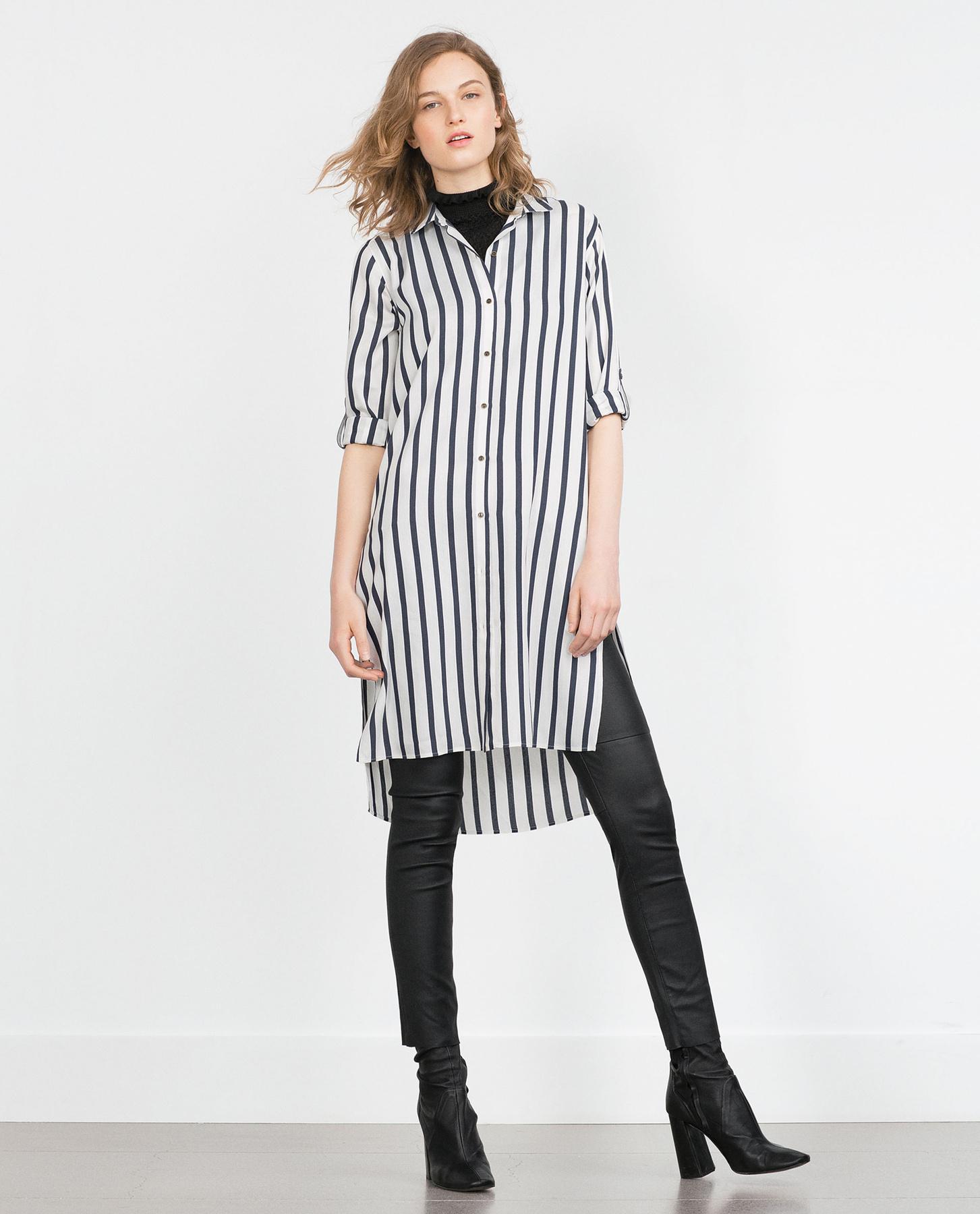 A H&M-ben 5990 forintot kérnek egy bőrhatású szűk nadrágért.