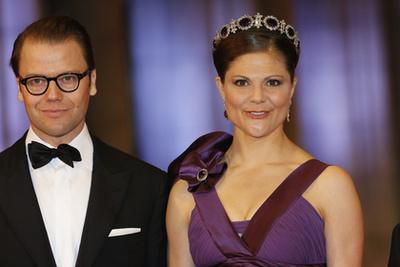 Alajos herceg és Zsófia bajor hercegnő a svéd királyi esküvőn 2010-ben.