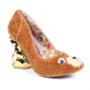 Kamaszlányoknak ajánlott szőrmés cipő csicsás sarokkal 115 font, 50.405 forint a márka webáruházában.